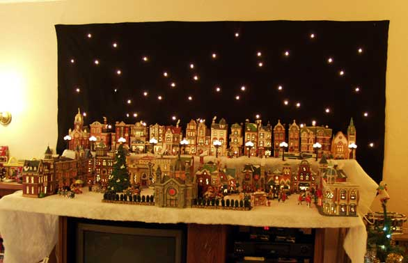 the america that real americans yearn for privately - Miniature Christmas Village