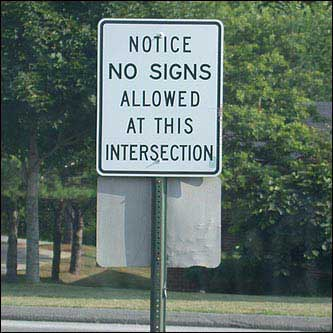 pointless road signs